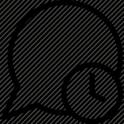 away, chat, speech balloon icon