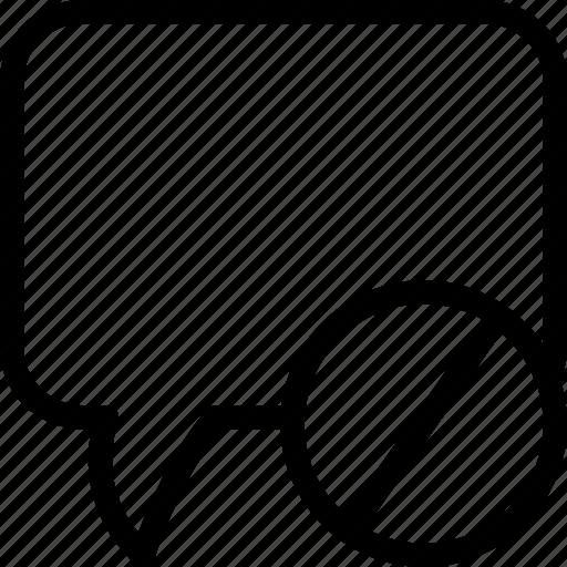 block, block message, chat, communication icon