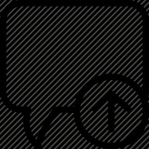 message, send, sent, upload icon