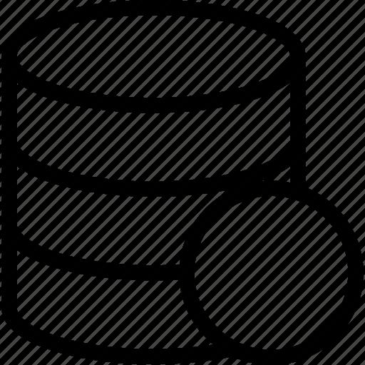 circle, creative, database icon