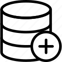 new, add, create, database icon