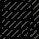 database, up, arrow, data