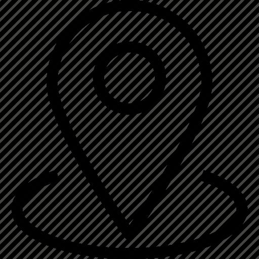 gps, navigation, pin, web and mobile ui icon
