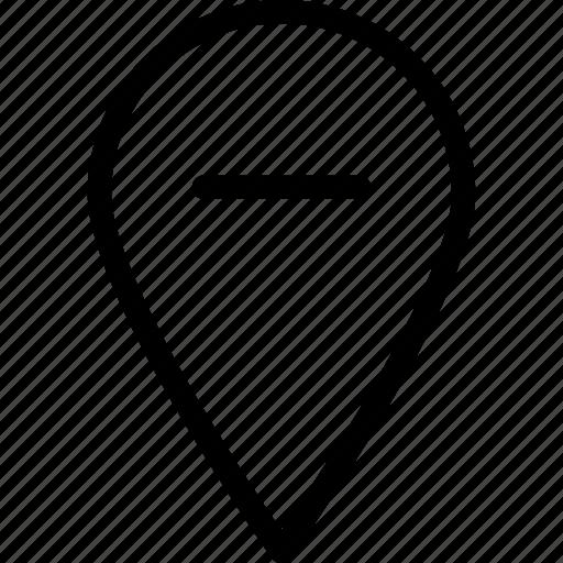 locator, pin, remove, web and mobile ui icon