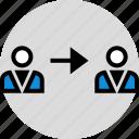 arrow, development, onilne, point, technology, user, web icon