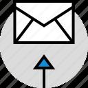 development, email, envelope, onilne, technology, web icon