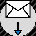 development, download, mail, onilne, technology, web icon