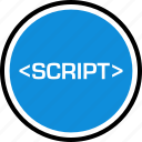 development, onilne, script, technology, web icon