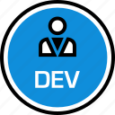 dev, development, onilne, persona, technology, web icon