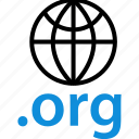 extension, globe, internet, online, org, seo, web icon
