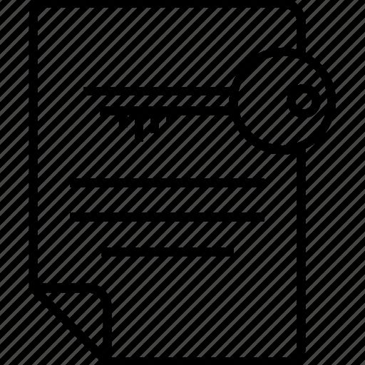 document, encryption, file access, keywords, seo icon