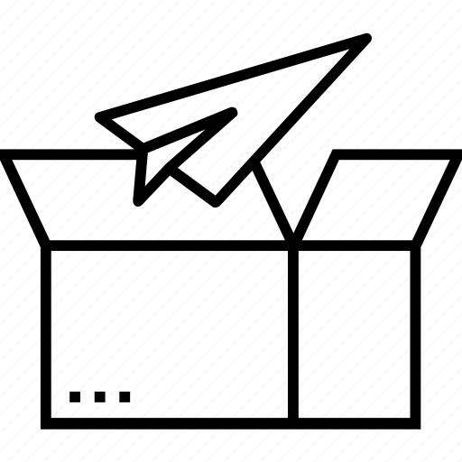 box, launch, open box, product release, release icon