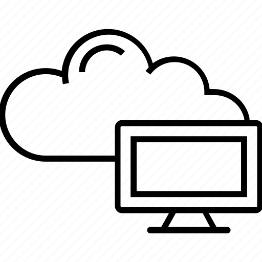 cloud computing, cloud hosting, cloud network, icloud, monitor icon