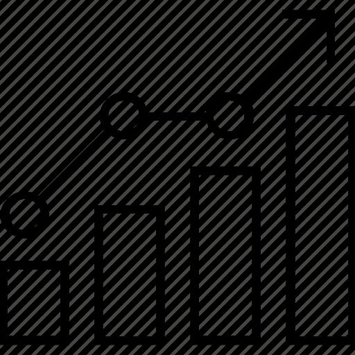 bar graph, data analysis, graph, seo graph, statistics icon