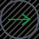 arrow, communication, forward, right icon