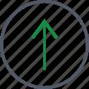 arrow, communication, up, upload icon