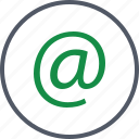 address, at, communication, email icon
