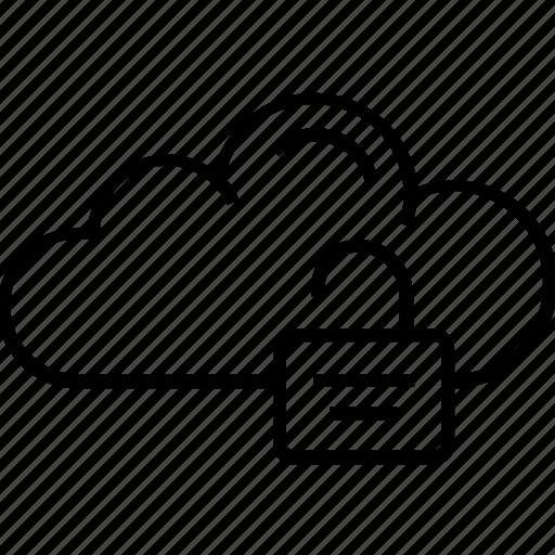 cloud padlock, icloud, padlock, unlock, unlock data icon