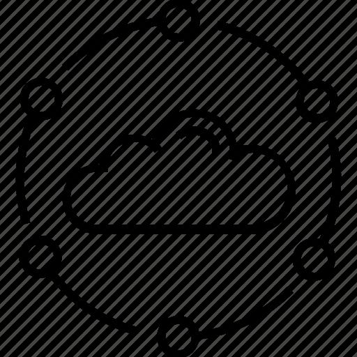 cloud, marketing, marketing cloud, network, processing icon