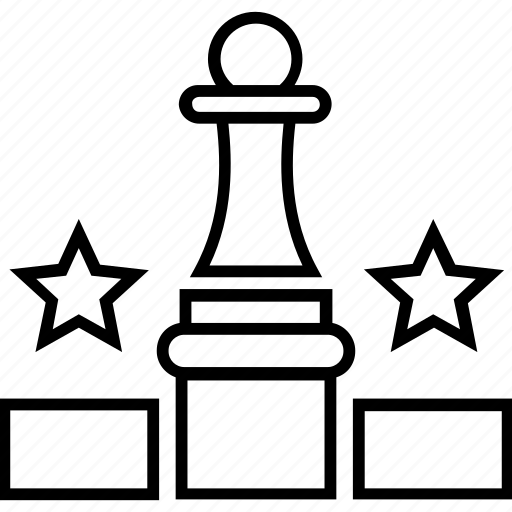 chess, chess king, stars, strategy for victory, victory icon