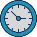 hour clock, time clock, time machine, vintage clock icon