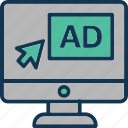 ads, advertisement, digital ad, digital advertisement icon