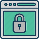online protection, web protection, web safety, website lock icon