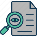 document audit, document checking, file auditing, file monitoring icon
