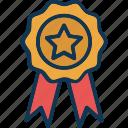 achievement, award badge, badge, banner icon