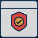 authorized web, protected web, secured website, web safety icon