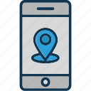 gps, location pin, location pointer, mobile location icon