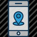 gps, location pin, location pointer, mobile location icon
