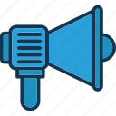 announcement, business advertisement, marketing concept, megaphone icon