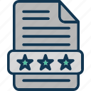 analysis, comments, feedback, page ratings icon