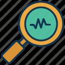 data analysis, data count statistics, data monitoring, optimization icon