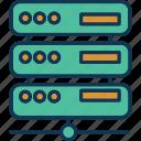 data server, database configuration, main server, server setting icon
