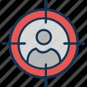 customer focus, customer segmentation, focus group, target audience icon