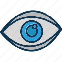 cyber eye, cyber monitoring, cyber security, cybernetic icon