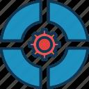 circle chart, data management, data settings, doughnut chart icon