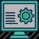 computer settings, computer setup, display settings, settings menu icon