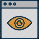 cyber monitoring, cyber security, cybernetic, mechanical eye icon