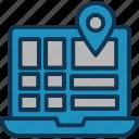 gps, location pin, location pointer, online address icon
