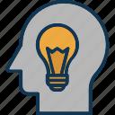 consideration, creative thinking, lateral thinking, logical reasoning icon