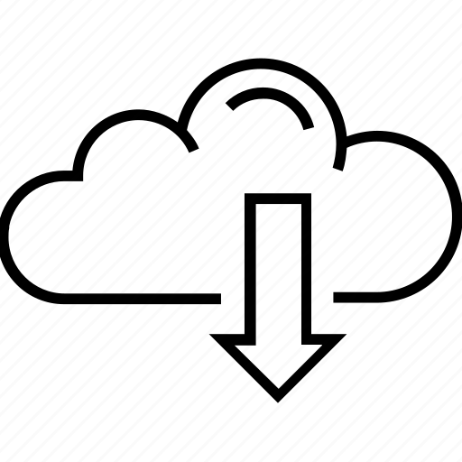 cloud computing, download, download information, info, information icon