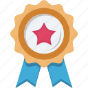 achievement, award, badge, prize icon