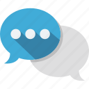 chat bubble, dialogue, discussion, message icon