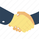 agreement, congratulating, deal, handshake icon