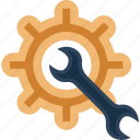 gear, maintenance, repair, settings icon