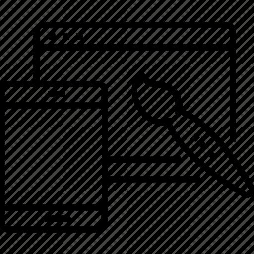 Designing, development, layout, layout design, web design icon - Download on Iconfinder