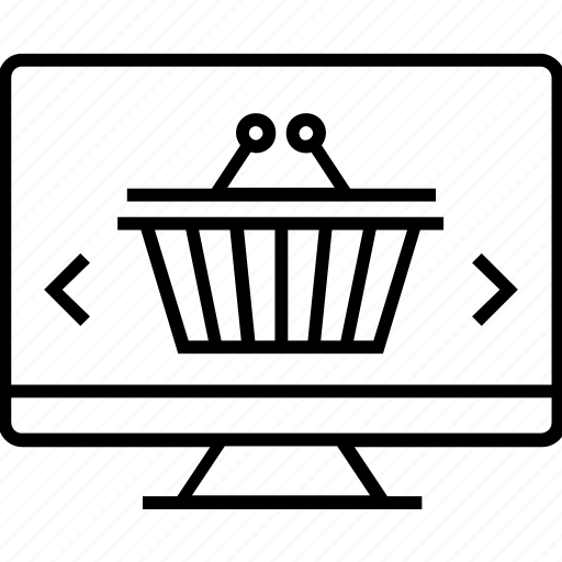 Basket, ecommerce, eshop, monitor, online shopping icon - Download on Iconfinder